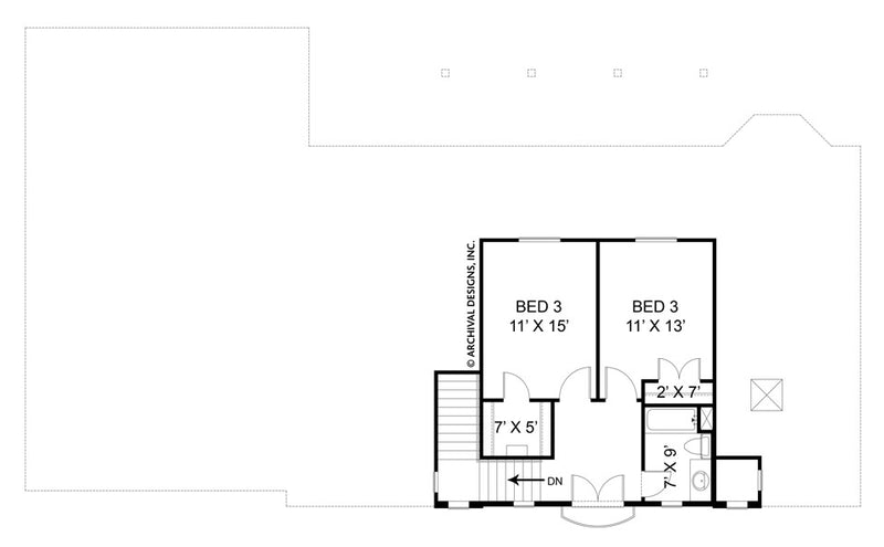 Villa Di Vino Place second floor, floor plan