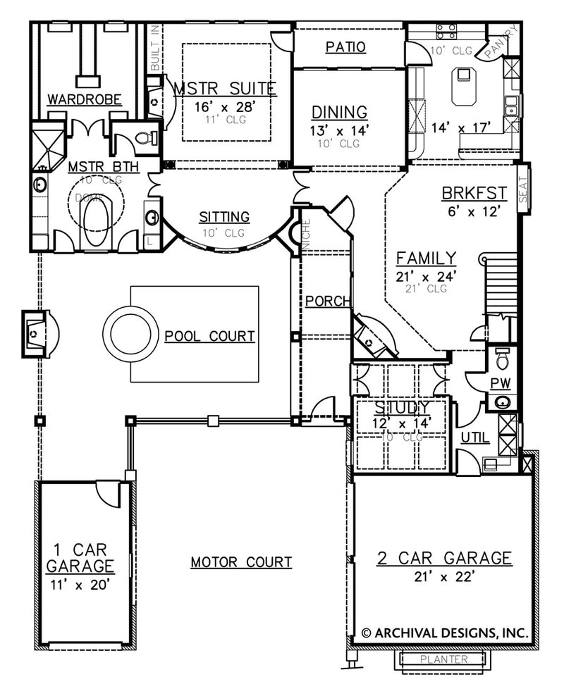Villa Palladian first floor, floor plan