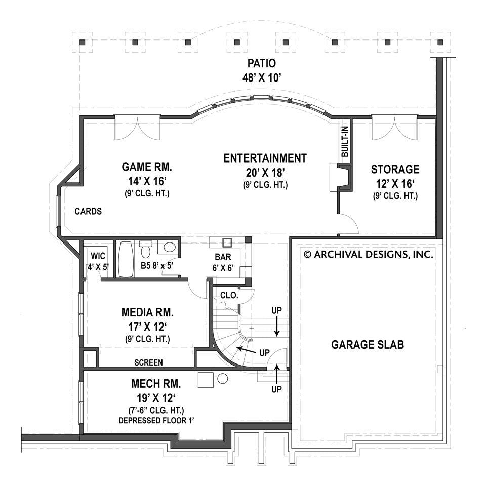 Basement click floor plan to reverse