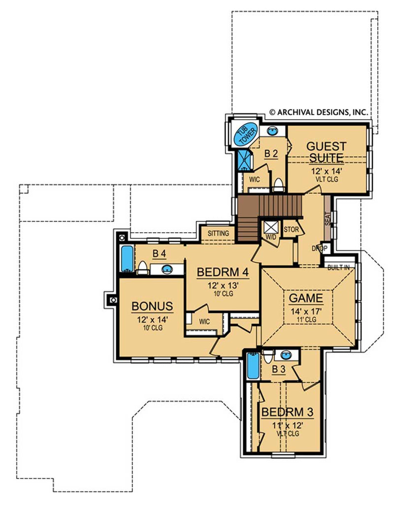 Villa Toscana second floor, floor plan