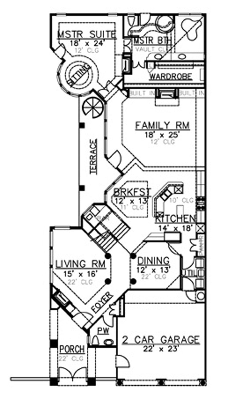Villa Zeno first floor, floor plan