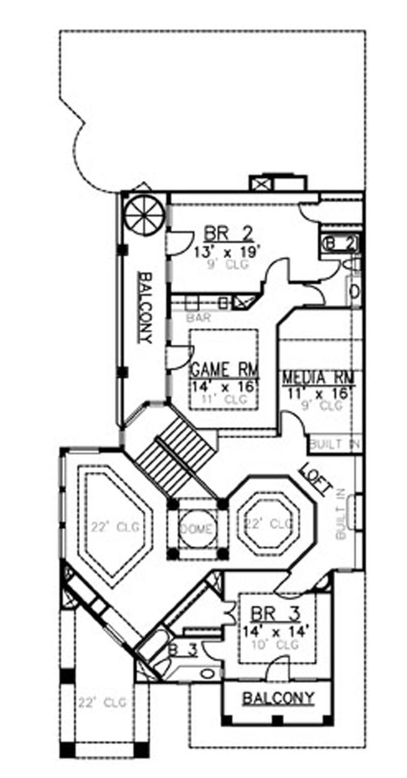 Villa Zeno  second floor, floor plan