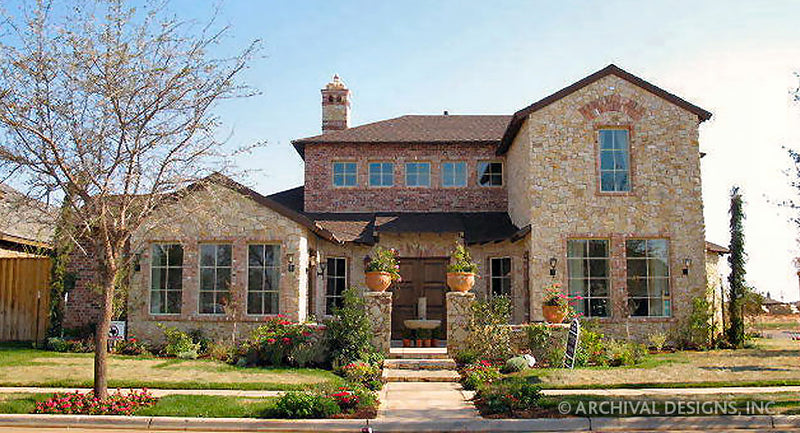 Tuscan House Plans Stock House Plans Archival Designs Inc