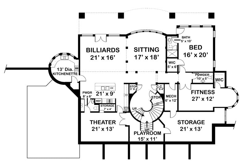 Vinius Basement level floor plan
