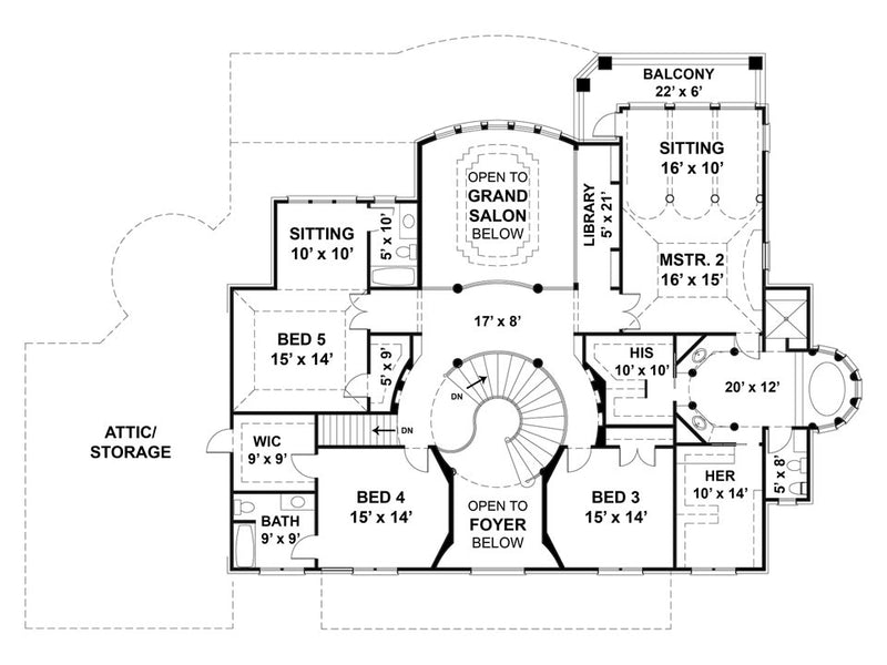 Vinius Second Level floor plan