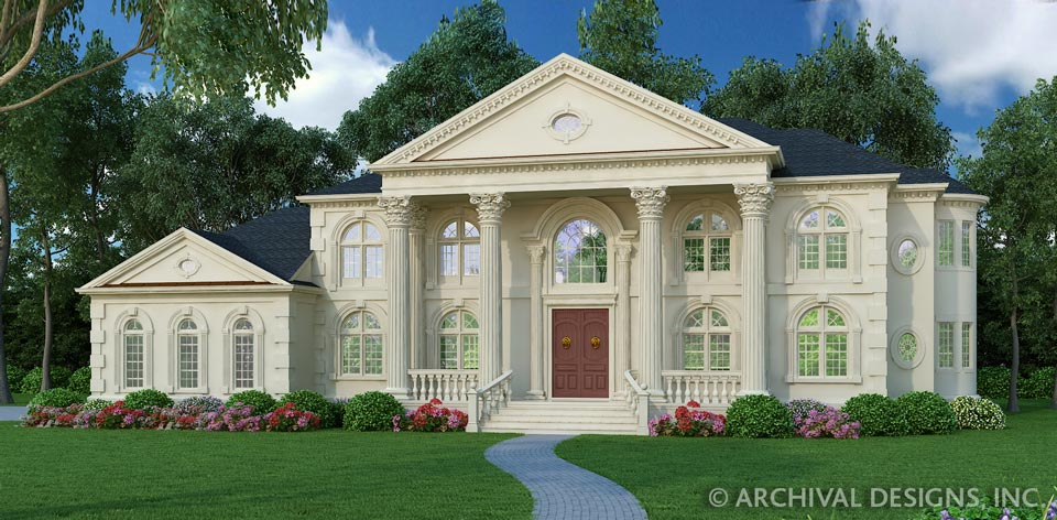 Clical House Plans | Stock House Plans | Archival Designs ... on georgian colonial house plans, traditional georgian house plans, english georgian house plans, old plantation style house plans, french colonial home plans, georgian style homes,