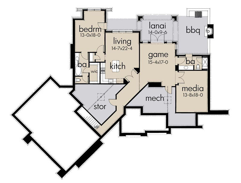 Basement Floor Plan | Vita Di Lusso House