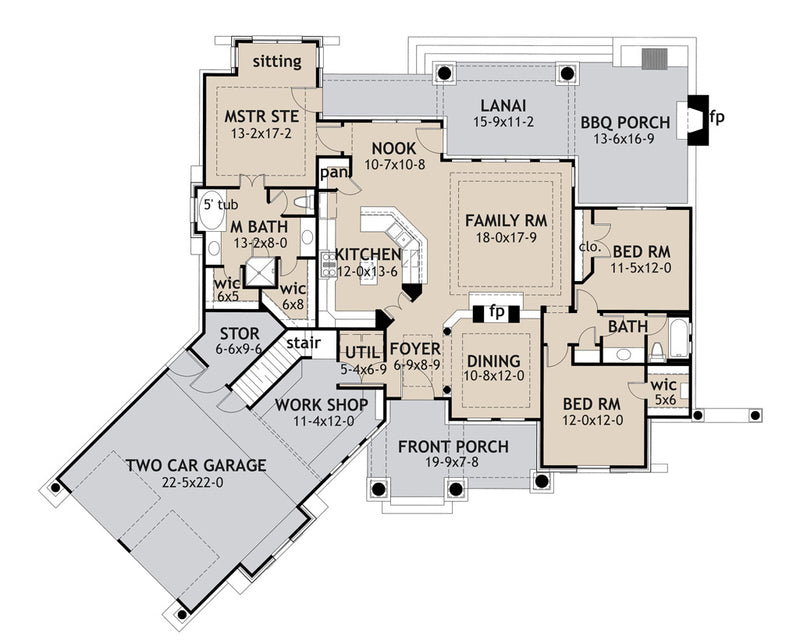 Vita Encantata main floor plan