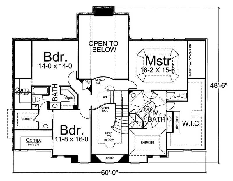 Walloston second floor, floor plan