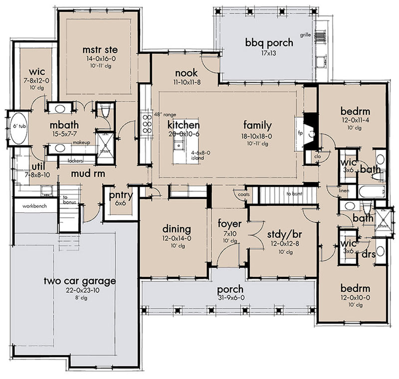 Walnut Grove, first floor plan