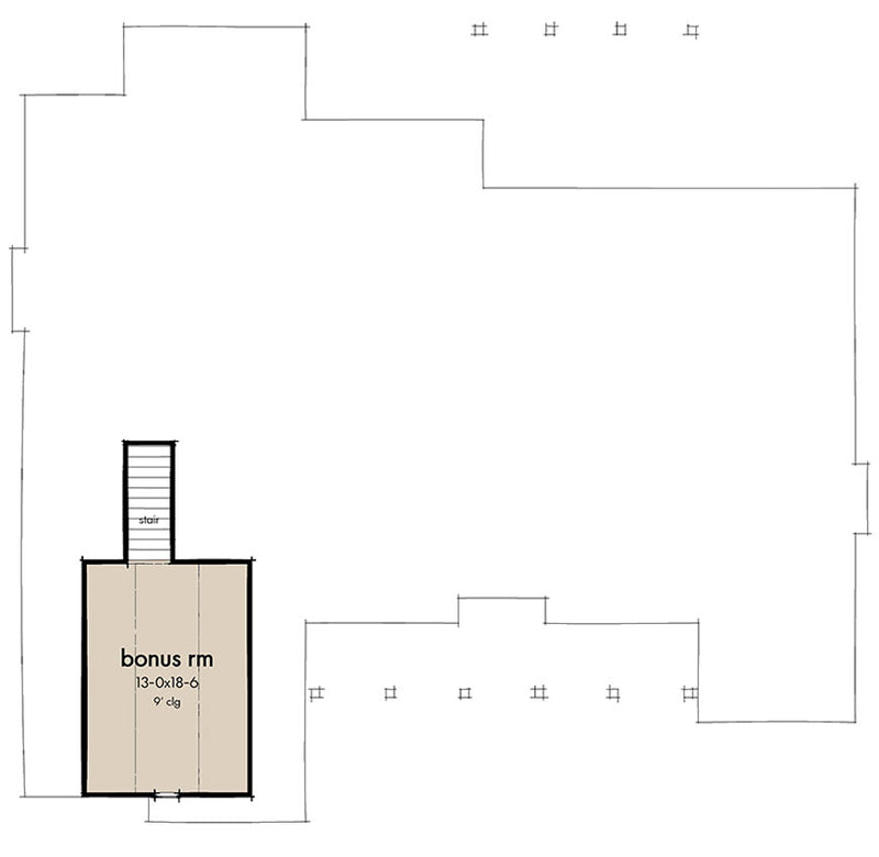 Walnut Grove, second floor plan