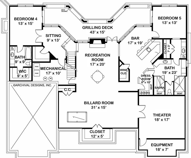 Waterford, basement floor plan