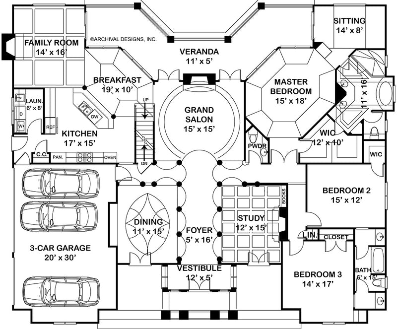 Waterford, first floor plan