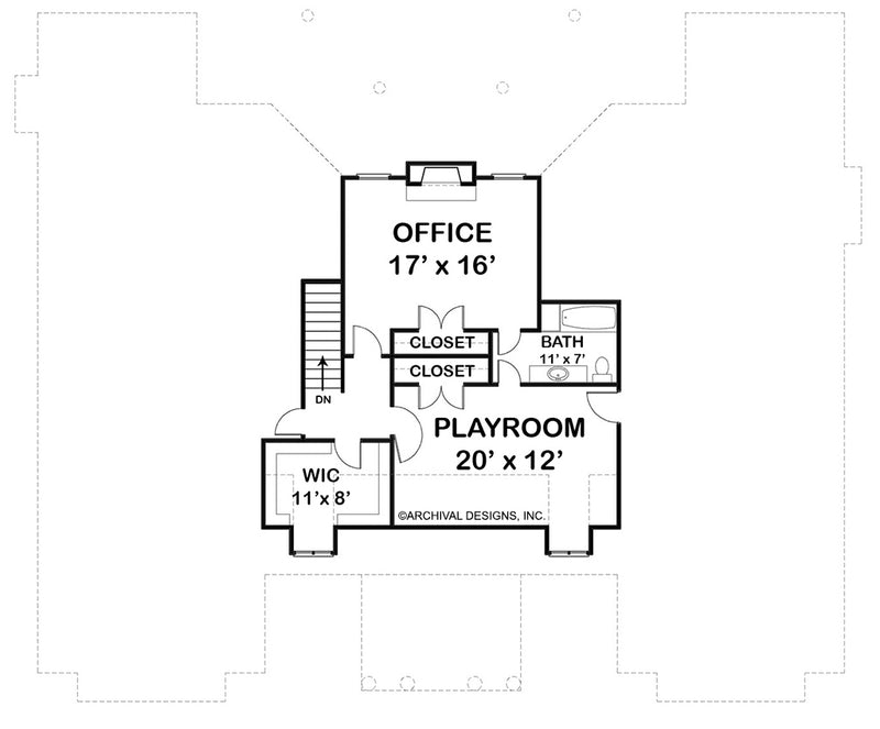 Waterford, second floor plan