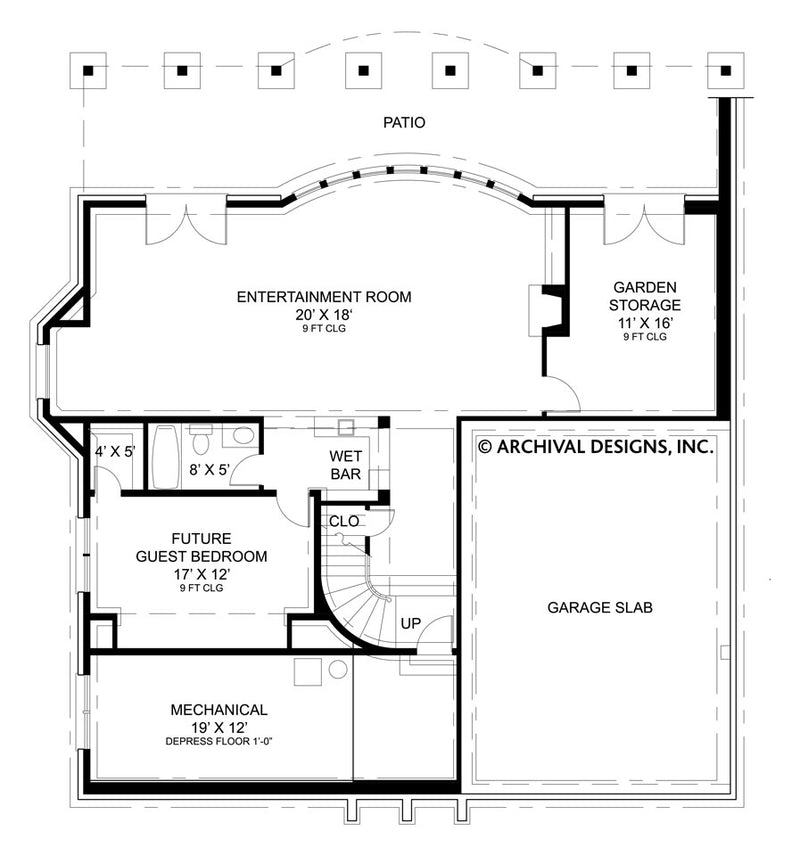 Weathersfield basement floor plan
