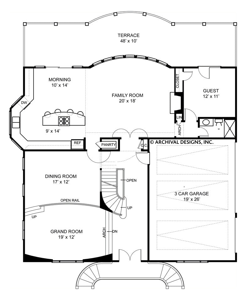 Weathersfield first floor, floor plan
