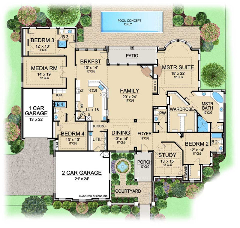 Wellington Manor first floor, floor plan