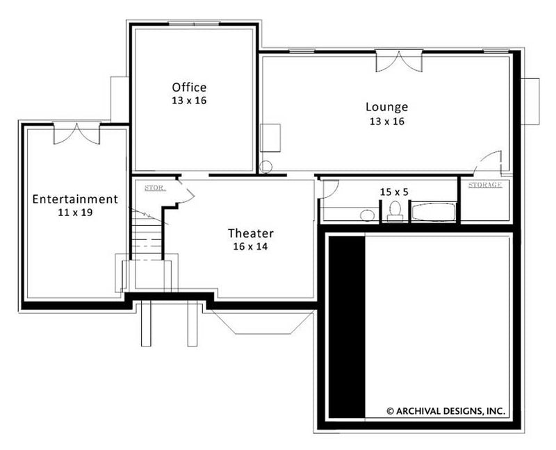Wentworth Place basement floor plan