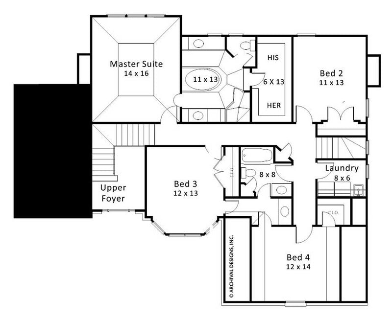 Wentworth Place second floor, floor plan