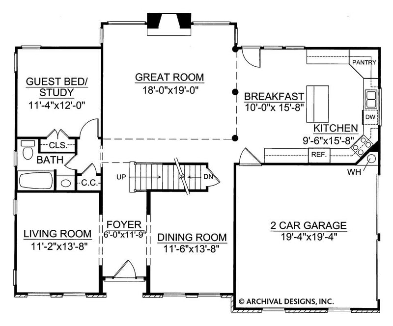 Wesley first floor, floor plan