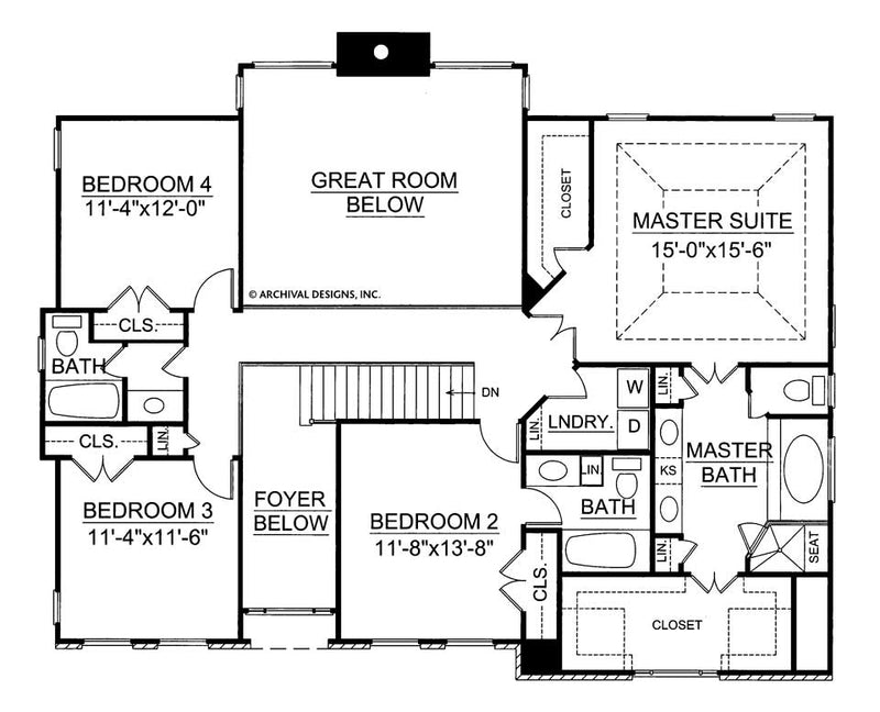 Wesley second floor, floor plan