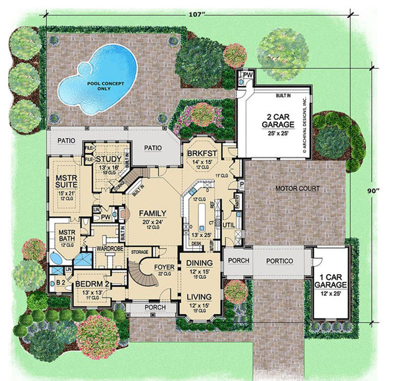 Westchester first floor, floor plan