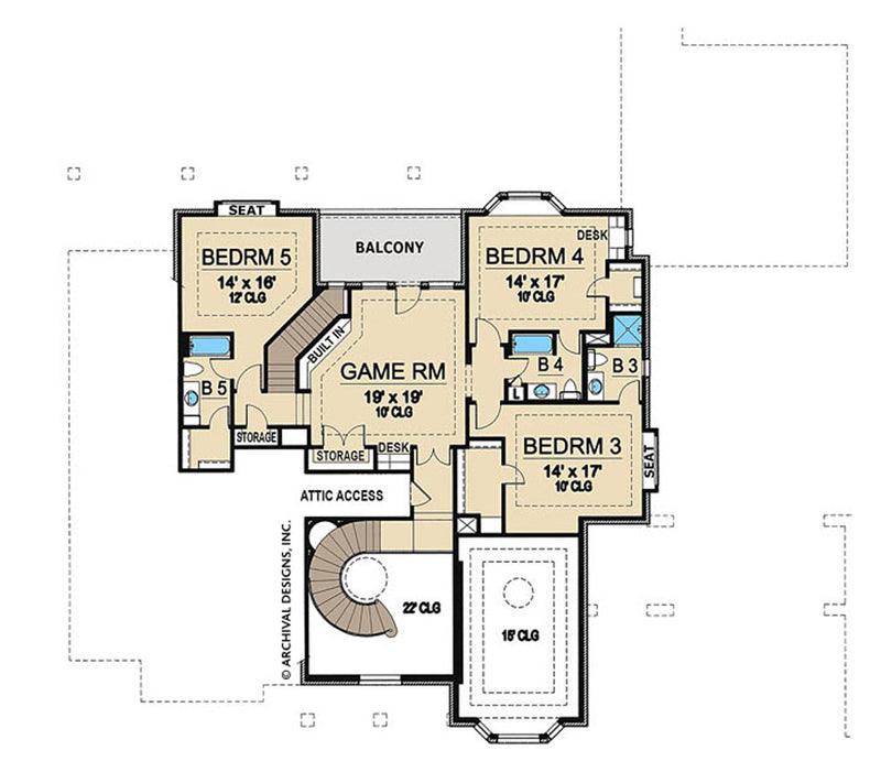 Westchester second floor, floor plan