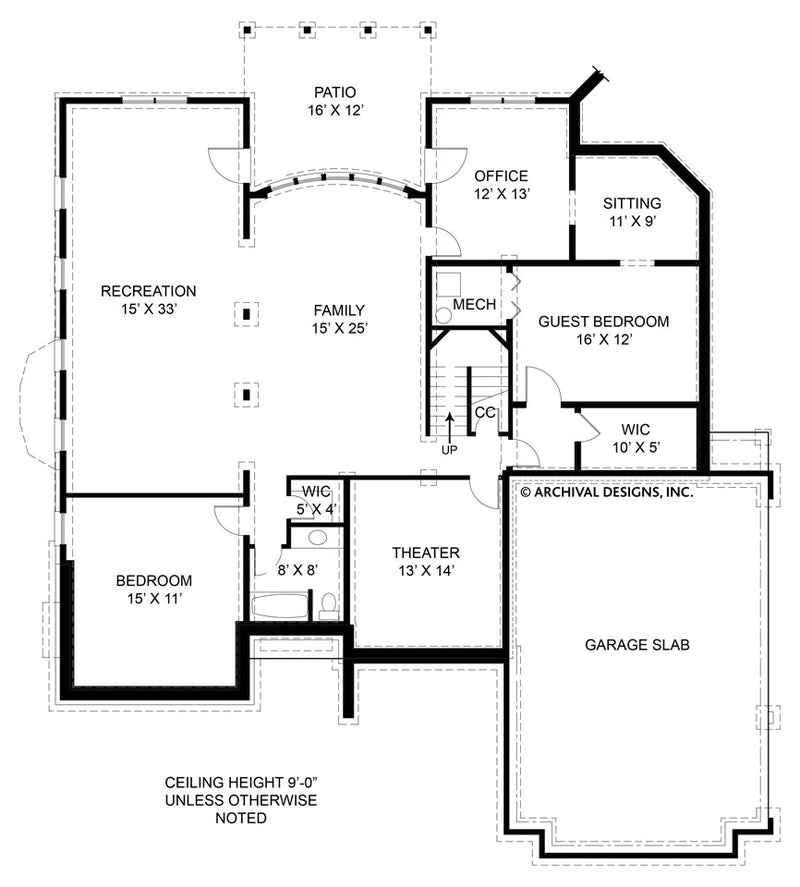 Westover basement floor plan