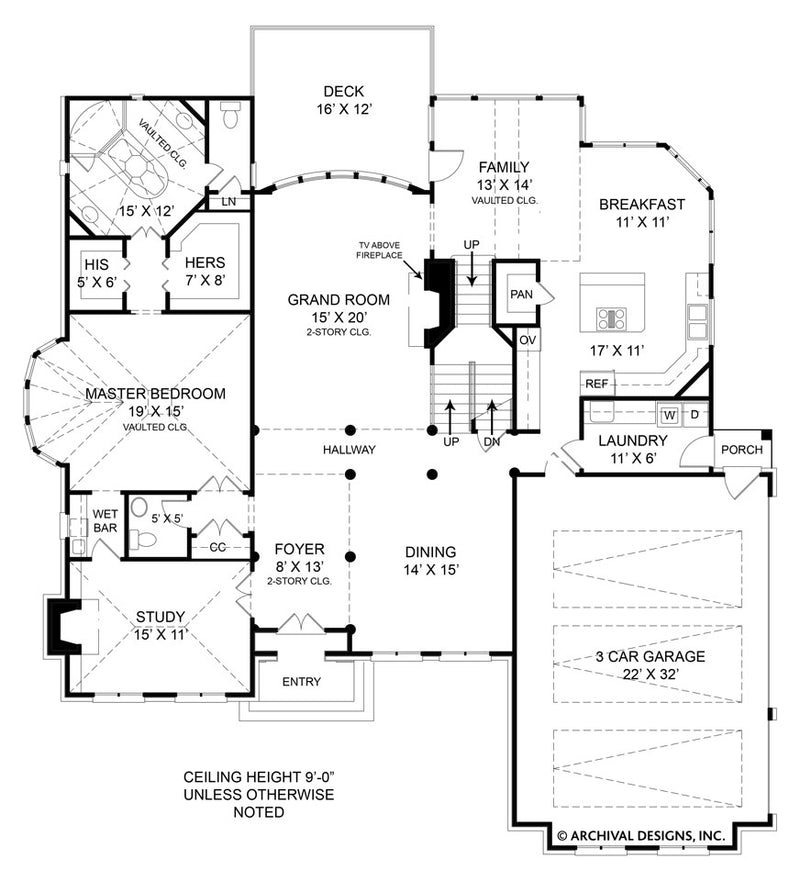 Westover first floor, floor plan