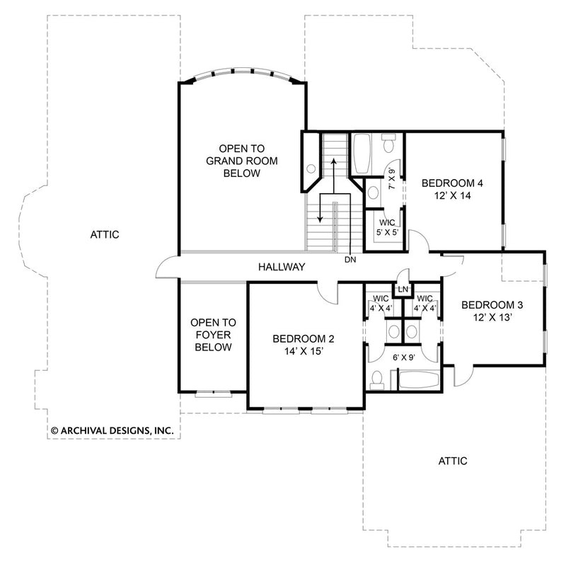 Westover second floor, floor plan