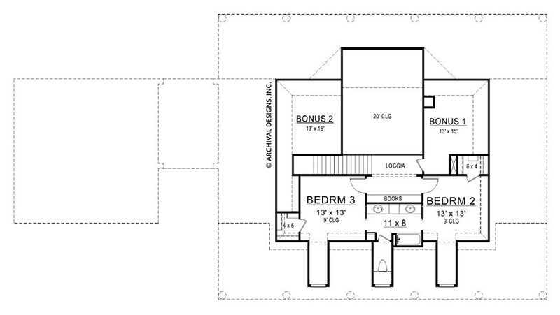 Williamsburg second floor, floor plan