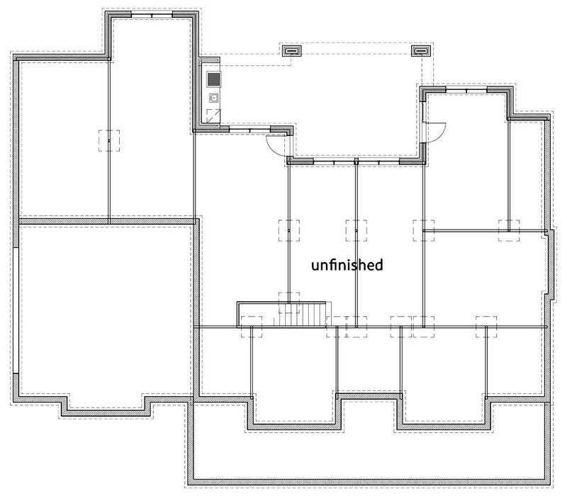 Willow Creek House | Walkout Basement Floor Plan