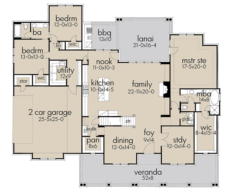 Willow Creek First Floor Plan