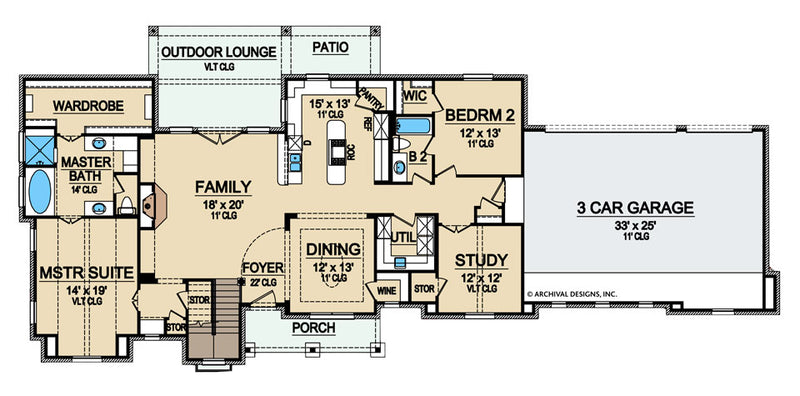 Woodbridge Heights first floor, floor plan