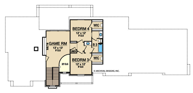 Woodbridge Heights second floor, floor plan