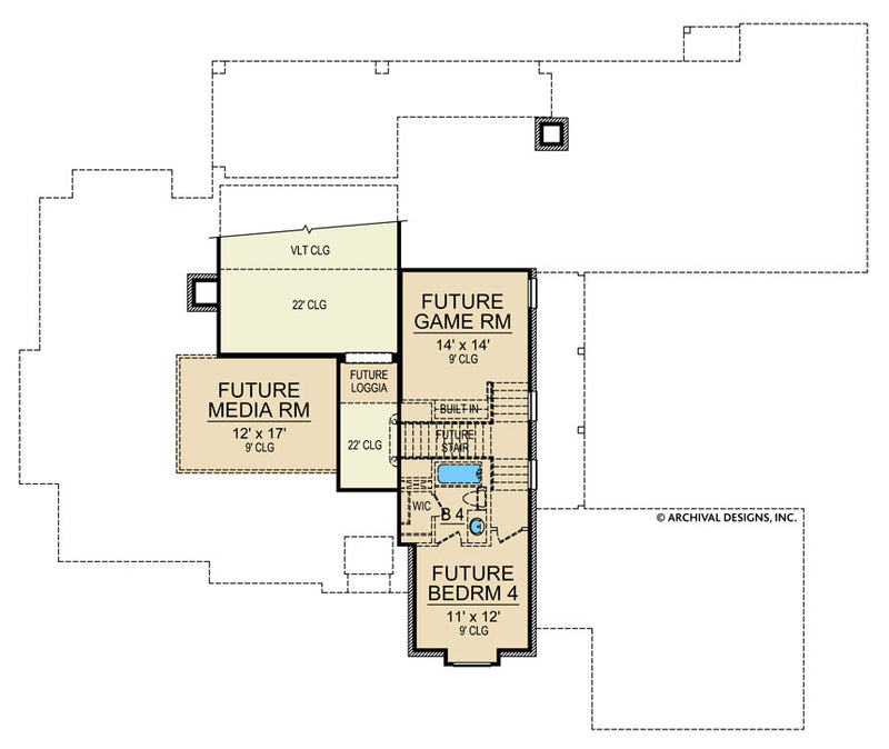 Yorkshire second floor, floor plan