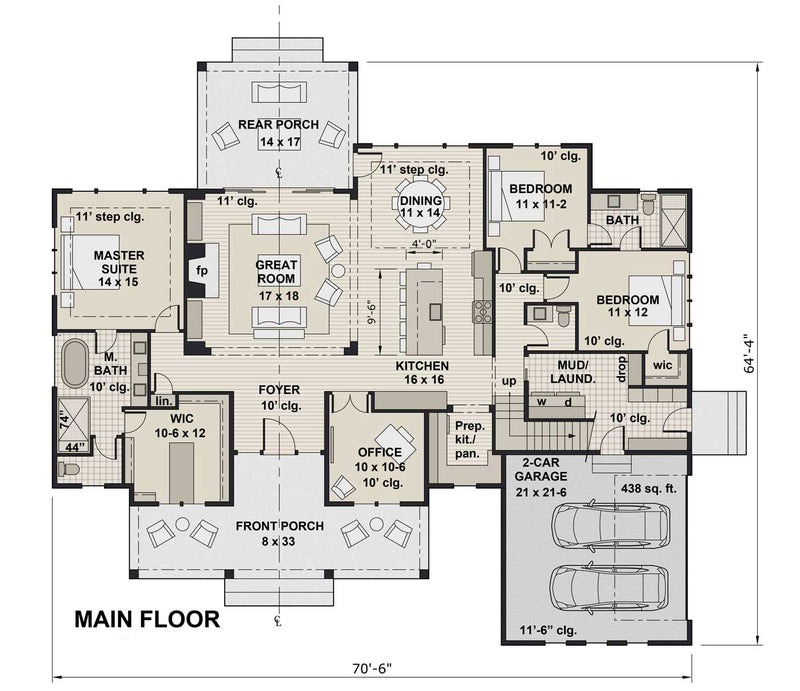 St. Thomas first floor plan
