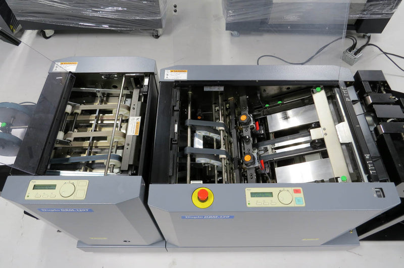 Pre-Owned Duplo System 5000 Air-Feed Collator and DBM120 Automated Booklet Maker