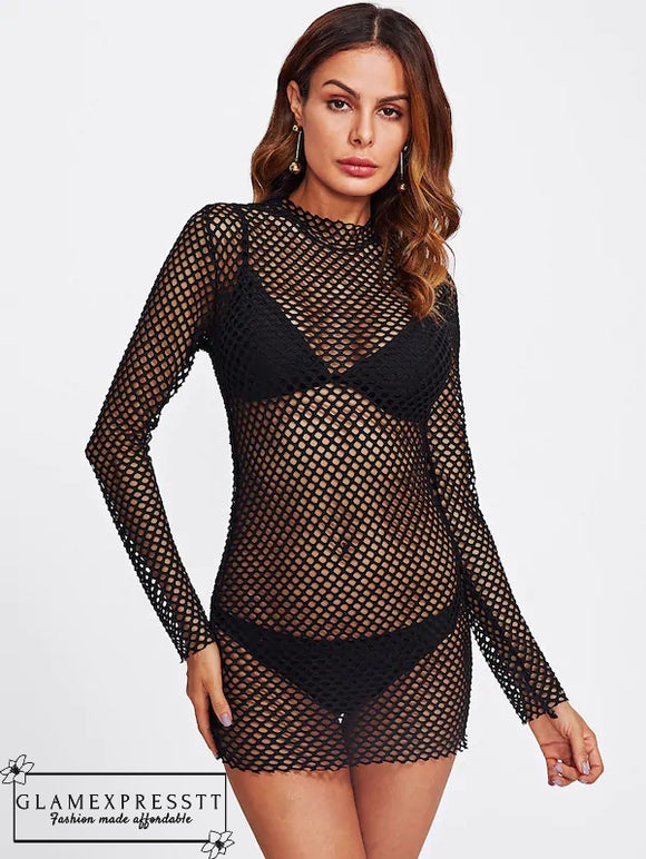 Fishnet Cover-Up Dress