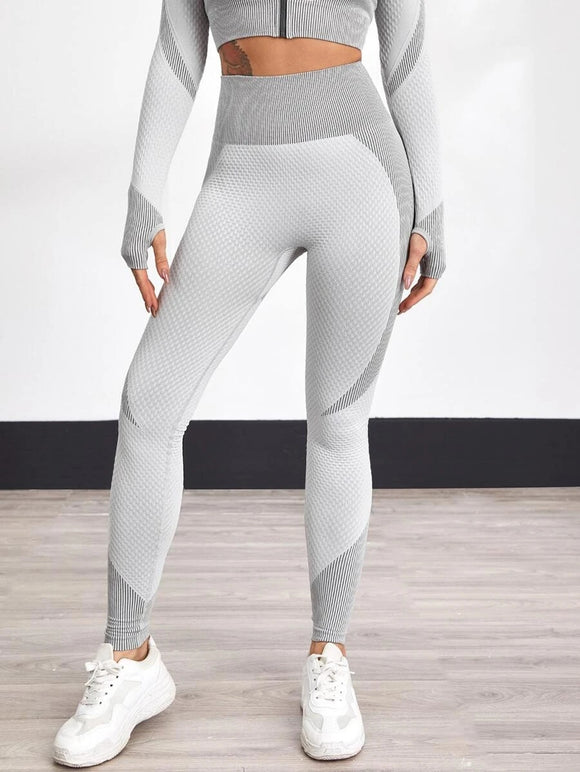 Light Grey Colour Block Leggings