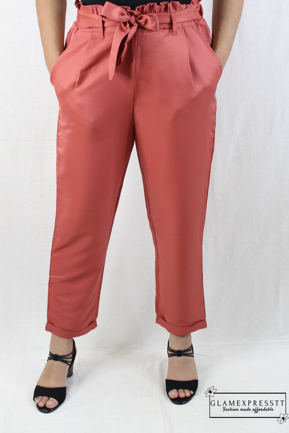 Pink Satin Trousers