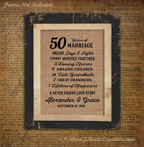 50 years of marriage golden 50 years anniversary gift