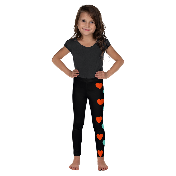 All you need is love.  We are all in this together. Kids leggings (Sizes 2T-7)
