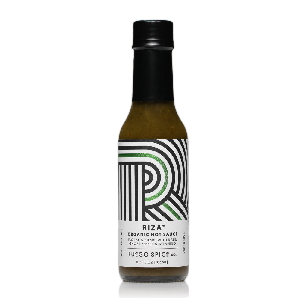 Riza Organic Ghost Pepper Verde Hot Sauce