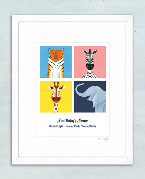 Personalised print Zoo Crew style