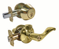MASTER G3 ENTRY LEVER/SINGLE DEADBOLT COMBO WAVE KW1 B/BRS
