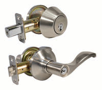 MASTER G3 ENTRY LEVER/SINGLE DEADBOLT COMBO WAVE KW1 S/NKL