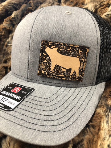 Leather Patch Cap PIG Richardson 112