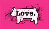 Swirly Love-Pig