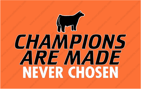 Champions Are Made Never Chosen